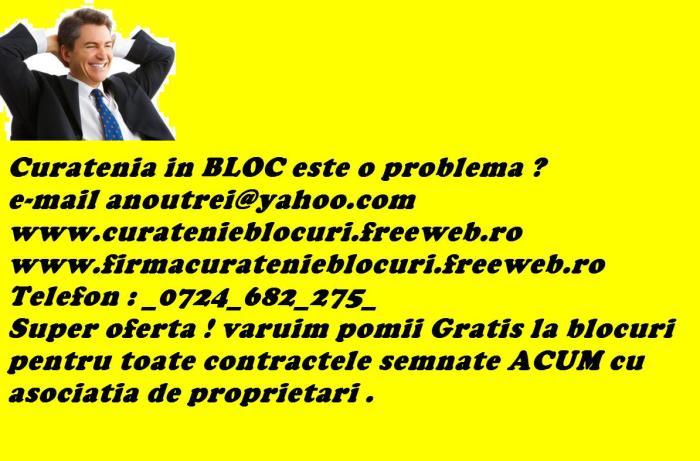 Firma Curatenie BLOCURI !